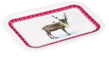 """Tablett Snack-Tray""""Gustaf""""Rentier Hirschr*Reindeer*Reh Weihnachten 20,5x14,5 cm"""
