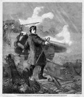 GALLANT ACT OF COMMANDER HEWETT BEFORE SEBASTOPOL RUSSIAN REPULSE SWORD CANON