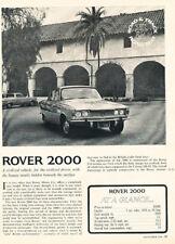 1964 Rover 2000 4d  Road Test Classic Original Article