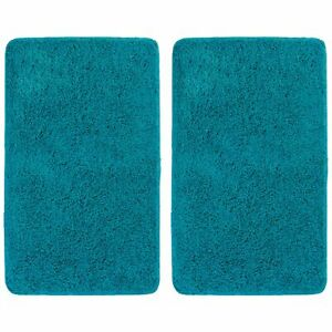 """mDesign Soft Microfiber Non-Slip Spa Mat, Accent Rug, 34"""" x 21"""", 2 Pack - Teal"""