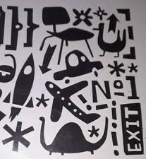 Rock And Roll Scrapbook Silhouette Cut Out vw van airplane rocket retro flourish