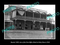 OLD LARGE HISTORIC PHOTO OF BOURKE NEW SOUTH WALES THE POST OFFICE HOTEL c1910