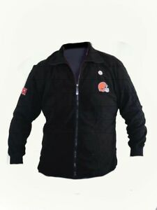 NFL Cleveland Browns Fleece Adult XL Zip Up Sports Illustrated Jacket NEW