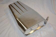 "20"" Polished Aluminum 4BBL Butterfly Finned Hood Scoop Street Hot Rat Rod"