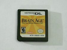 NINTENDO DS GAMES, BRAIN AGE, 2004, CARTRIDGE ONLY Fast Free Shipping