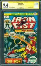 Iron Fist 1 CGC SS 9.4 Stan Lee Signed 11/75 1st vs Iron Man Battle Cover OW/W