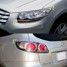 Chrome Head lamp Cover Rear Tail Light Molding for HYUNDAI 2006-2009 Santa Fe CM