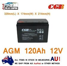 120ah AGM Deep Cycle Battery for Portable 12v Fridge Solar 4wd Camping CGB