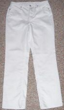 COLDWATER CREEK White Denim Classic Fit Straight Leg Jeans Size 8 Inseam 32