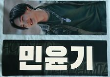 BTS Yoongi fansite's white reflection daechwita slogan banner+5 photocards