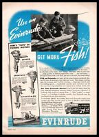 1940 EVINRUDE Zephyr 5.4 hp, Sportwin 3.3, Sportsman 2 hp Outboard Motor AD