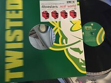 """4Toasters Real World rare 4 track 12"""" Maxi tested VG+ vinyl"""