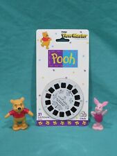Brand New View Master Tyco 3-D Reels 3083 Winnie the Pooh + 2 PVC Figures 1995
