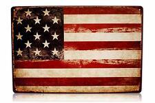 "America USA Flag Man Cave Decor Sign Retro Metal Tin Military Signs 8x12"" United"