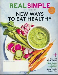 REAL SIMPLE Magazine February 2020 Issue New Unread Healthy Eating Recipes