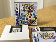 Nintendo Gameboy Color Pokemon Puzzle Challenge Video Game w/ Box & Manual 2000