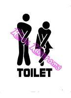 door toilet 100x100mm Lesbian white Sticker // Car Decal JDM // Die cut