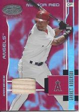 2003 Leaf Certified Materials Red Materials Garret Anderson 3 Angels 096/250