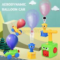 Fun Inertia Balloon Launcher & Powered Set Car Toys Gift For Kids Experiment