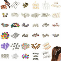 DIY Dreadlock Hair Beads Hair Braid Pins Rings Cuff Clips Tibetan Jewelry Decor