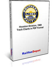 Southern Pacific Houston Division track chart 1969 - PDF on CD - RailfanDepot