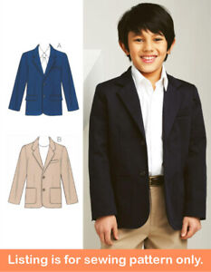 SEWING PATTERN Sew Boys Suit Jacket - Formal Clothes Clothing Blazer Teen - 3697