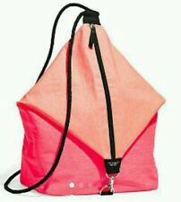 Victoria Secret Canvas Beach Backpack Sling Bag, Pink Coral, Limited Edition $85