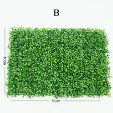 Green Fence Foliage Hedge Grass Mat Artificial Plant Greenery Wall Panel Decor