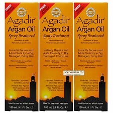 "Agadir Argan Oil Spray Treatment 150 mL / 5.1 Fl. Oz. ""Pack of 3"""
