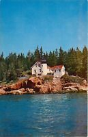 Bass Harbor Light Mt Desert Island Maine ME Acadia National Park Postcard