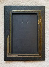 Retro Picture Frame in Navy Blue Faux Leather