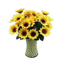 7 Heads Beauty Fake Sunflower Artificial Silk Flower Bouquet Home Table Decor
