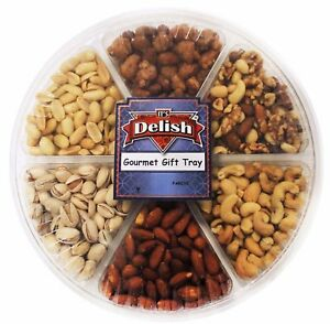 Gourmet Roasted & Salted Nuts Gift Tray by It's Delish