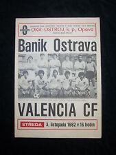 ORIG. prg UEFA Cup 1982/83 banik ostrava-valencia cf rara vez!!!