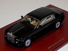 1/43 True Scale Models 2009 Rolls Royce Phantom Sedan in Diamond Black TSM114323
