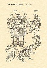 Patent Print - Voltron Toy 1986  - Art Print. Ready To Be Framed!