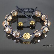 Armband 3-tlg Ornament Blume Kristall Kreuz Schwarz Weiß gold Perle Armreif