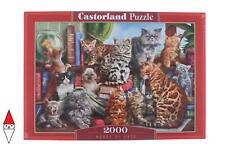 PUZZLE ANIMALI CASTORLAND HOUSE OF CATS 2000 PZ