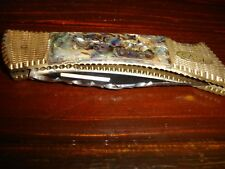 """CASE XX LOCK BLADE KNIFE 2159LSSP -1988 ABALONE HANDLE-SPECIAL DESIGN, CLOSED 5"""""""