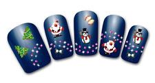 Nailart stickers autocollants ongles scrapbooking décorations sapins père Noël