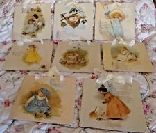 8 Art Prints Maud Humphrey Bogart  Mother Goose Nursery Rhymes Wall Hangings
