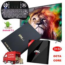 NEW 3+32GB H96 pro+ Android 7.1 Nougat S912 Octa Core 4K Smart TV BOX+Backlit I8