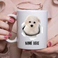 Funny Personalized Bichon Frise Puppy Custom Namecoffee Mug