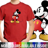 Cartoon Mickey Mouse Disney Unisex Kids Tee Youth T-Shirt Boy Girl Shirt Cotton