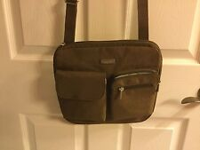 BAGGALLINI New Canyon CROSS BODY Shoulder Bag Brown Front Cell Pocket Vegan NWT