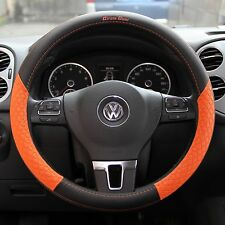 Black and Orange Nice Grip Sporty Slip-On Steering Wheel Cover Good Fit Comfort