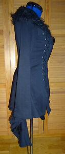 PUNKRAVE Hautenoire Jacke Kimono schwarz Schnürung Gr. 2XL
