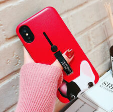 Hybrid Hard Cat Pattern Phone Case Ring Holder Stand for iphone X 8 7 6s 6 plus