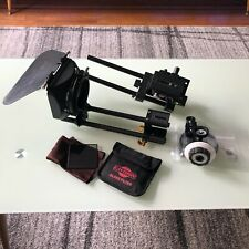 Lot of rods, rails, follow focus, polarizing filter, French flag, matte box
