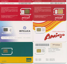 LATVIA / diff.mobile operators  / 6 different GSM Sim-cards  / MINT